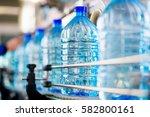 plastic water bottles on...   Shutterstock . vector #582800161