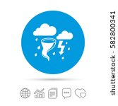 storm bad weather sign icon.... | Shutterstock .eps vector #582800341