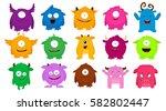 big set of colorful cartoon... | Shutterstock .eps vector #582802447