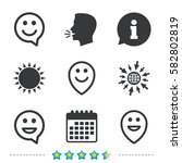 happy face speech bubble icons. ... | Shutterstock .eps vector #582802819