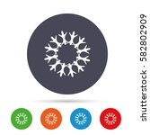 snowflake artistic sign icon.... | Shutterstock .eps vector #582802909