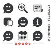 speech bubble smile face icons. ... | Shutterstock .eps vector #582803125