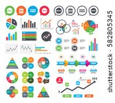 business charts. growth graph.... | Shutterstock .eps vector #582805345