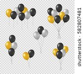 bunches and groups of black ...   Shutterstock .eps vector #582807481
