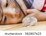 Animal Therapy. Asian Girl And...
