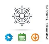 ship steering wheel icon.... | Shutterstock .eps vector #582808441