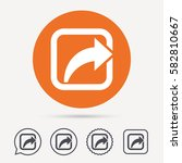 share icon. send social media... | Shutterstock .eps vector #582810667