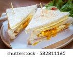 Slice Ham Cheese Egg Sandwich...