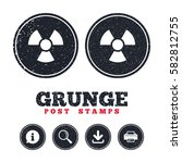 grunge post stamps. radiation...