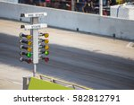 drag racing stage lamp signal... | Shutterstock . vector #582812791