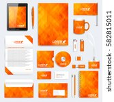 orange set of vector corporate... | Shutterstock .eps vector #582815011