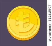 currency symbol  turkish lira... | Shutterstock .eps vector #582815977