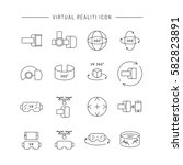 set of icons of virtual reality ... | Shutterstock .eps vector #582823891