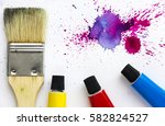 beautiful and colorful flat lay ... | Shutterstock . vector #582824527