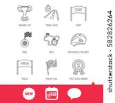 winner cup and award icons....   Shutterstock .eps vector #582826264