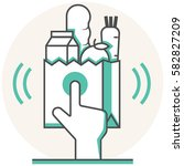 online grocery   infographic...   Shutterstock .eps vector #582827209