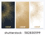 modern set of vector flyers.... | Shutterstock .eps vector #582830599