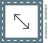 arrows corner line vector icon. ...