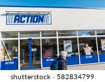 Small photo of AACHEN, GERMANY FEBRUARY, 2017: ACTION Store. ACTION is a International non-food discounter with over 35,000 employees and more than 850 branches in the Netherlands, Belgium, Germany, France.