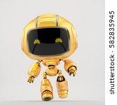 cute robotic toy   running mini ... | Shutterstock . vector #582835945