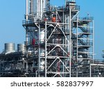 oil and gas industry refinery... | Shutterstock . vector #582837997