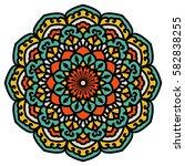 mandala. vector ethnic oriental ... | Shutterstock .eps vector #582838255