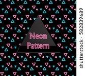 seamless pattern neon   Shutterstock .eps vector #582839689
