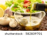 composition poured olive oil ... | Shutterstock . vector #582839701