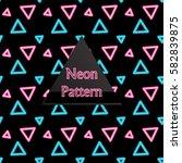 seamless pattern neon   Shutterstock .eps vector #582839875