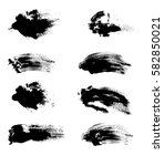 vector set of brushstrokes of... | Shutterstock .eps vector #582850021