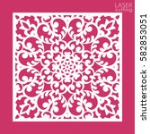 die cut ornamental square panel ... | Shutterstock .eps vector #582853051