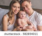 portrait of beautiful young... | Shutterstock . vector #582854011