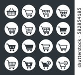 shopping icons  shopping cart... | Shutterstock .eps vector #582854185