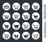 shopping cart icon set in vector | Shutterstock .eps vector #582854185