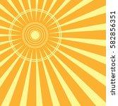 sun rays. vector illustration... | Shutterstock .eps vector #582856351