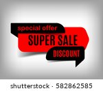 super sale banner  discount tag ... | Shutterstock .eps vector #582862585