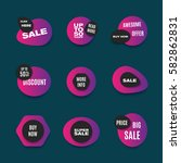 colorful sale web icons  or... | Shutterstock .eps vector #582862831