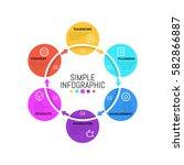 modern infographic design... | Shutterstock .eps vector #582866887