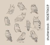 a set of a cute different...   Shutterstock .eps vector #582870619