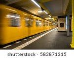 berlin subway metro underground ... | Shutterstock . vector #582871315
