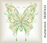 abstract butterfly | Shutterstock .eps vector #58287613