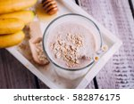 delicious healthy breakfast or... | Shutterstock . vector #582876175