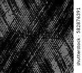 abstract grunge grid polka dot... | Shutterstock .eps vector #582876391