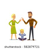 a little boy crying  cursing... | Shutterstock .eps vector #582879721