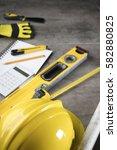 contractor concept background. | Shutterstock . vector #582880825