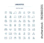 vector graphic set. icons in... | Shutterstock .eps vector #582883201