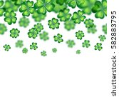 saint patrick's day border.... | Shutterstock .eps vector #582883795