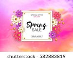 big sale vector illustration... | Shutterstock .eps vector #582883819