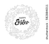 Coloring Book Page. Easter...