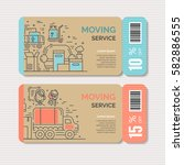 moving and delivery template... | Shutterstock .eps vector #582886555